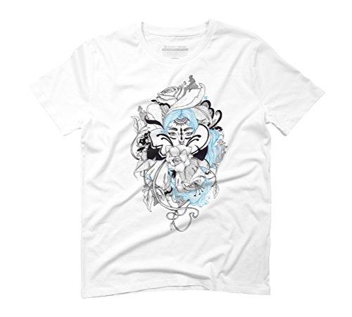 fleur Men's 2X-Large White Graphic T-Shirt - Design By Humans (Mens Fleur Tee)