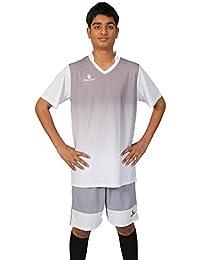 Triumph Men's Polyester Soccer White V Neck Uniform