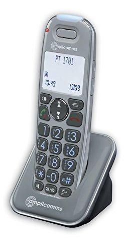 amplicomms PowerTel 1701, Schnurloses Großtastentelefon als zusätzliches Mobilteil, Hörgerätkompatibel