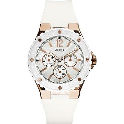 Guess W10614L2 - Reloj de cuarzo para mujer, con correa de goma, color blanco
