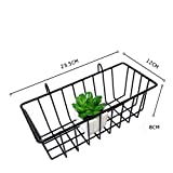 Vanvo Grid Hanging Basket Iron Wall Mounted Decoration Innovative Flower Pot Shelf Small Items Display Rack Indoor Pendant (White)