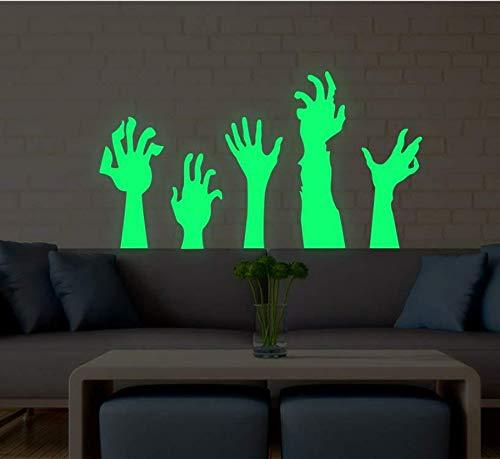 een Palm Fluoreszierende Wandaufkleber Wohnzimmer Party Bar Dekoration Wandbild Selbstklebend Entfernbar ()