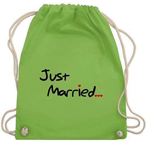 Hochzeit - Just Married - Unisize - Hellgrün - WM110 - Turnbeutel & Gym Bag