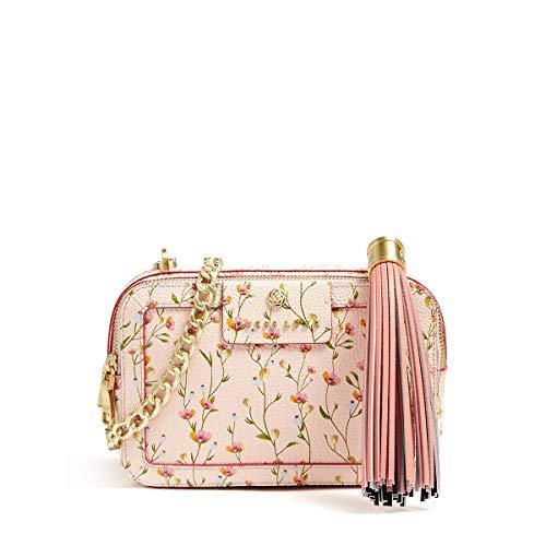 Guess Umhängetasche Jolie Blumen Leder Luxe FLOWER