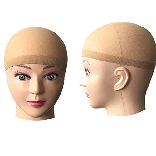 TRIXES Beige Nylon Haarnetz Unterziehhaube Haar Mütze für Perücken
