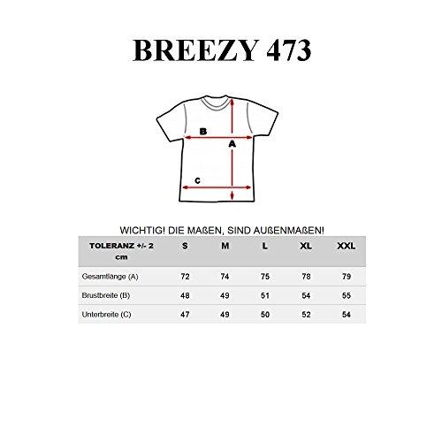 BOLF Herren T-shirt Figurbetont Kurzarm Sommer Freizeit 3C3 Motiv Schwarz