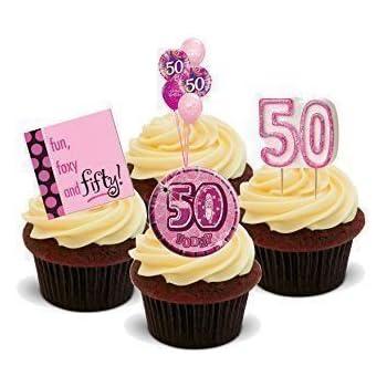 NOVELTY 50TH BIRTHDAY PARTY MIX Girls Female Pink