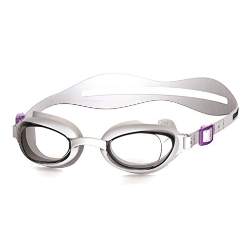 Speedo Damen Schwimmbrille Aquapure Weiß (White/Clear), One Size