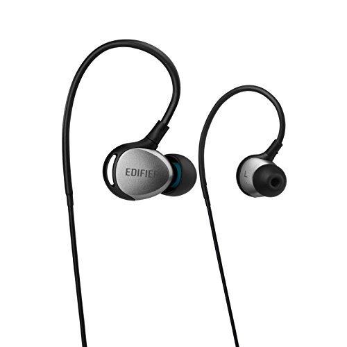 Edifier P281 Beständig gegenüber Schweiß Staubdicht Sportlich In-Ear Ohrhörer Ip57 Zertifiziert Kopfhörer Schwarz / Silber