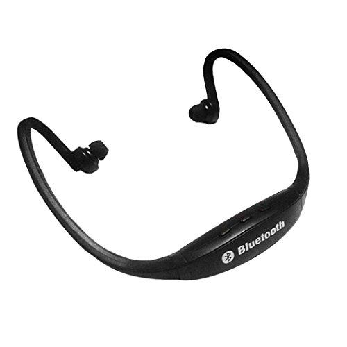 Saingace Drahtloser Bluetooth Musik-Sport-Stereokopfhörer-Kopfhörer für iPhone (Schwarz)