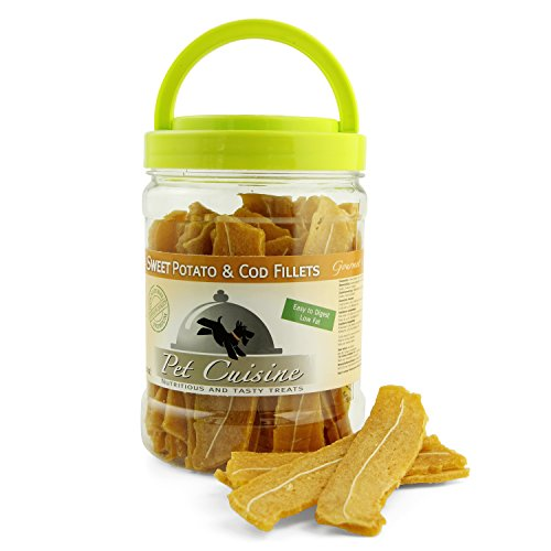 pet-cuisine-hundesnacks-hundeleckerli-kausnacks-susskartoffel-kabeljau-filet-340g