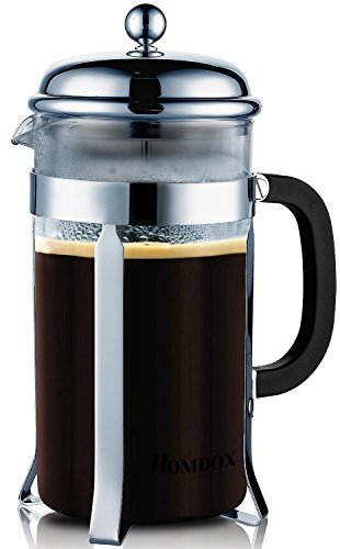 Homdox-8-Cup-French-Press-Cafetiere-1-Litre-Premium-Glass-Coffee-Maker-34-Oz