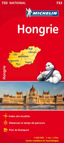 Carte NATIONAL Hongrie par Collectif Michelin