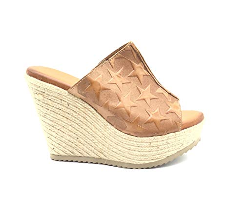 Corded With Sandal Insole Colour Comfort Wedge Leather Brown Uk Gel Raquel Perez Size6 7I6gvYbfy
