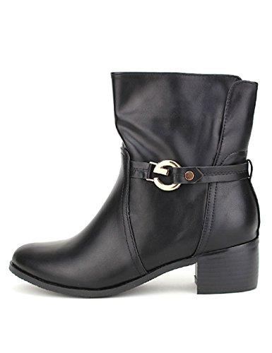 Cendriyon, Bottine Noire G MODA Chaussures Femme Noir