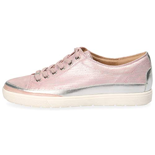 CAPRICE 9-23654-22 Damen Halbschuhe Lack Schnürschuhe Sneaker, Schuhgröße:41 EU, Farbe:Rosa