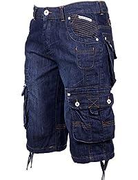 Crosshatch Mens Nordica Light Or Dark Wash Casual Vintage Summer Denim Shorts