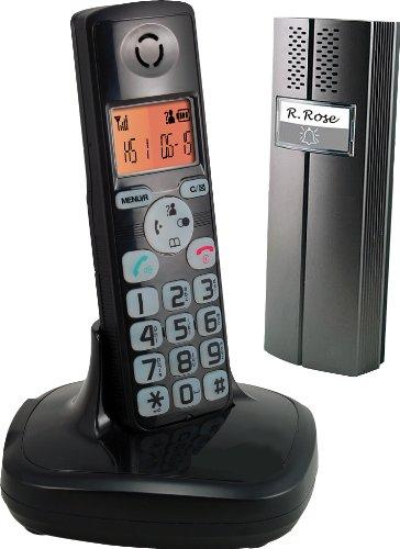 Cordless Landline Telephone With Doorbell and Door Safety Intercom