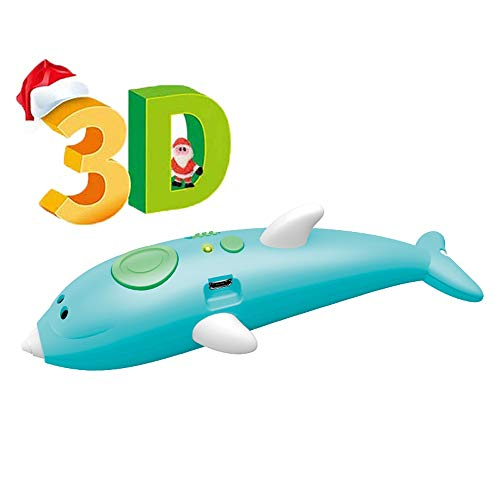HAIFENG Kinder 3D-Druck-Feder-Wireless-Charging DREI D Dreidimensionale Graffiti Pen Männliche und weibliche Kinder Pen Boy Puzzle Low Temperature Wireless-Spielzeug