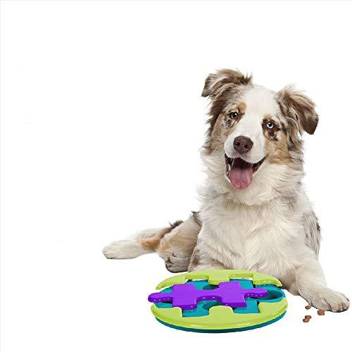 Teammao Haustier Intelligenz Spielzeug Rundes Puzzle interaktiver Spaß Versteckspielzeug Hundekralle Intelligenz Trainingsspielzeug Multi Kombinationsspiel Strategiespiel Für Katzen Hunde. (Runde)
