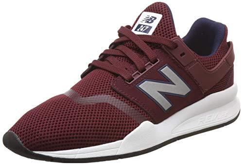 New Balance Herren 247v2 Sneaker, Rot (Nb Burgundy/Silver Fg), 44 EU