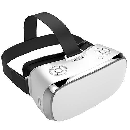 3D VR Headset Virtuell Wirklichkeit Brille, 360 ° Virtual Reality Brille Videospiele, 3D Filme Videospiele Komfortable VR-Brille Mit Stereo-Kopfhörer Kompatibel Mit Android,White