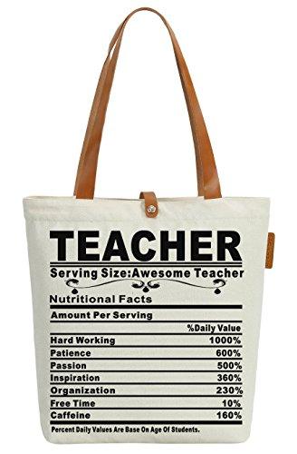So'each Women's Awesome Teacher Gift Top Handbag Canvas Tote Shoulder Bag