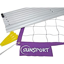 SunSport Kit - Juego de postes para voleibol ( playa ) , color azul