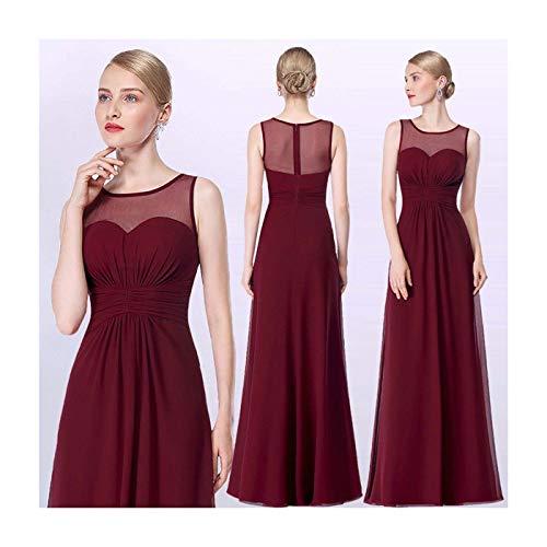 Ever-Pretty Long Chiffon Evening Gown Sleeveless Homecoming Prom Dresses 08761 Burgundy 14 Jovani Homecoming