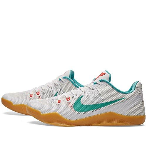 Nike Herren Kobe Xi Basketballschuhe, Mehrfarbig, 44 EU Weiß (Weiß / Washed Teal-Bright Crimson)