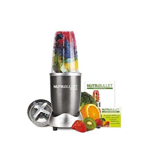 NutriBullet 600 Series Blender, 600 W, Starter Kit, 5-Piece Set, Graphite