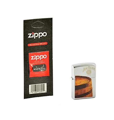 zippo-accendino-motivo-jim-beam-con-stoppino-di-ricambio-zippo-collection-2015-cromato-argento-edels