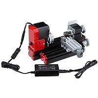 Ridgeyard Mini motorizzato tornando strumento di istruzione del metallo attorno macchina di lavoro per «fai da te» per il prelievo di scienza Hobby modello di istruzione