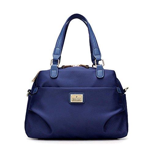 Canvas Bag Lady impermeabile Nylon Spalla Messenger Cloth Oxford Blue