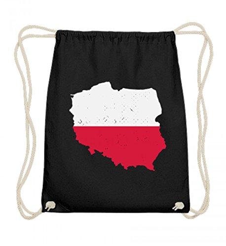 Hochwertige Baumwoll Gymsac - Polen Landkarte Trikot Emblem Adler Wappen Polnische Fahne Polska Flagge Geschenk -