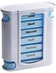 Tower Dose de pillules Boîte à médicaments avec 4 Lignes de planification quotidienne - Français