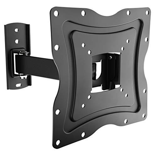 RICOO Universal TV Wandhalterung S1222 für 19-47 Zoll (ca. 48-119cm) Schwenkbar Neigbar Fernseh Halterung Aufhängung auch für Curved LCD Fernseher Wand Halter | VESA 75x75 200x200 | Schwarz (Wandhalterung Für 19-tv)