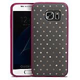 DeinDesign Slim Case kompatibel mit Samsung Galaxy S7 Silikon Hülle Ultra Dünn Schutzhülle Punkte Pattern Muster