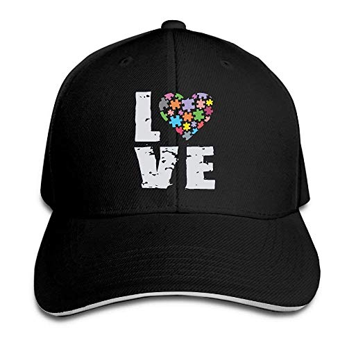 Unisex Love Puzzles Autism Awareness Adult Adjustable Dad Hat