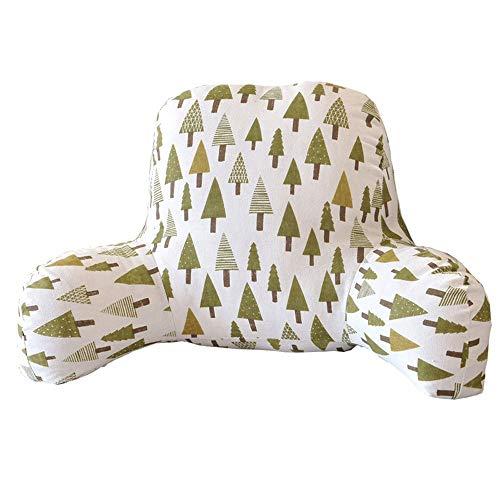 enlehne Baumwoll-Leinen-Kissen Kissen im chinesischen Stil aus menschlicher Ästhetik Taillenauflage mit Armlehnen Kissen aus Baumwollimitatkissen für Heim-Sofas, 52 x 38 cm x 20 cm ()