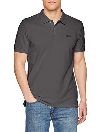 s.Oliver Herren 03.899.35.4586 Poloshirt, Grau (Smoke Grey 9490), Large