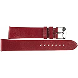 16mm Kaiser Watches Leather Band Watch Strap Leather Band 16mm Buckle: White