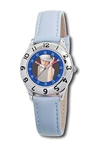 Disney Kinder-Armbanduhr Ryan Evans Lernuhr blau Leder #0803C009D052S400