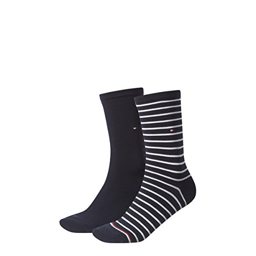 TOMMY HILFIGER Damen Socken Small Stripe Casual Socken 8er Pack