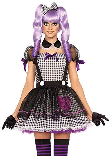Leg Avenue 85370 - Dead Eye Dolly Damen kostüm, Größe XS  (EUR 32-34), Karneval - Doll Kleid Kostüm