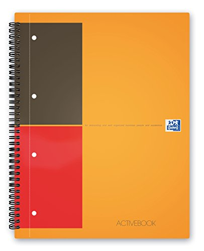 Oxford International Active Book Cahier à spirales 160 pages A4+ Gris Anthracite