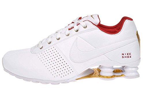 Nike Wmns Shox consegnare, bianco/white-university red-metallic oro, Bianco