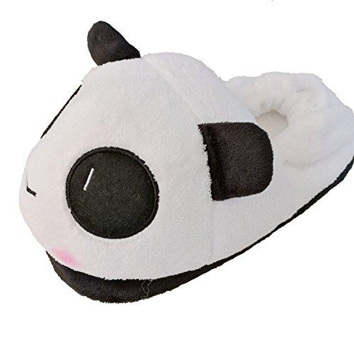 Gr pantofole sveglio del panda pantofole domestiche di inverno con il velluto di corallo superiore di alta qualità e l'outsole anti-skip (size : 35-38, style : panda3)