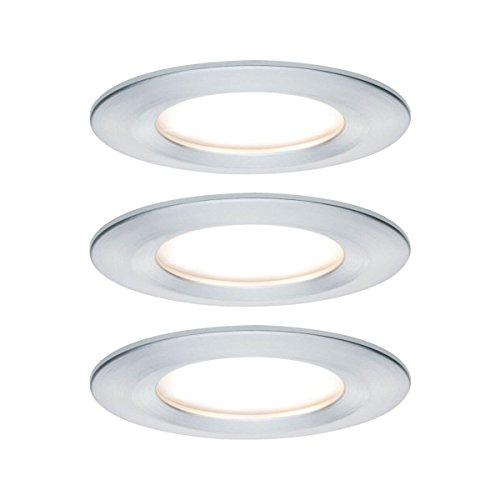 Paulmann Einbauleuchte LED Coin Nova rund 6,5W Alu 3er-Set starr 3-Stufen-Dimmbar IP44 spritzwassergeschützt