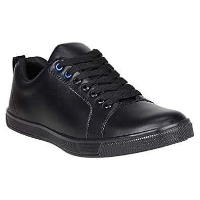 Lamara Men's Black Canvas Sneaker Shoes - 06